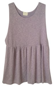 Pins and Needles Urban Outfitters Peplum Knit Top Lilac