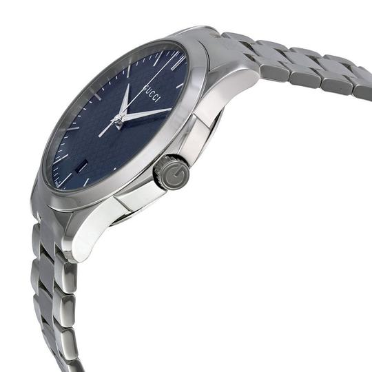 Gucci Unisex Watch Navy Blue Dial Silver tone Stainless Steel Watch
