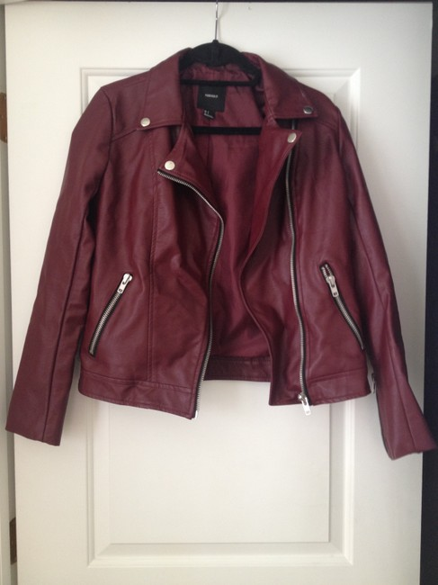 Forever 21 21 Faux Leather Motorcycle Jacket