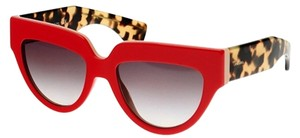 Prada Prada Poeme Cat Eye Red Havana Sunglasses