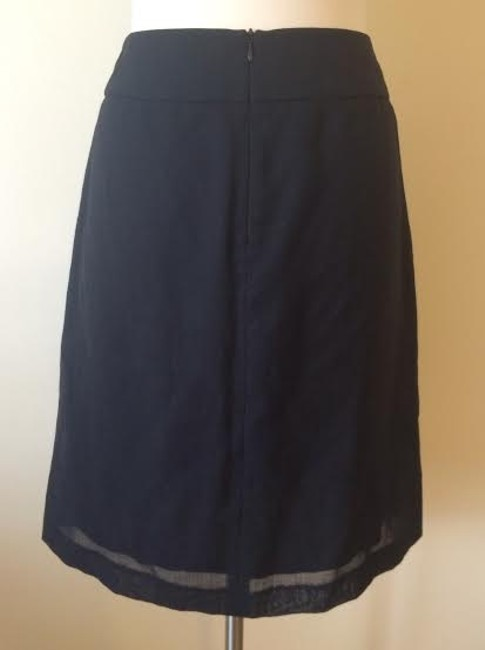 Banana Republic Lightweight Wool Blend Skirt Black
