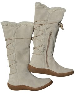 Banana Republic Suede Winter Tassels Cream Boots