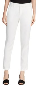 Vince New White Tailored Trouser Pants Chalk White