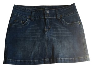 Hydraulic Classic Trendy Preppy Mini Skirt Denim