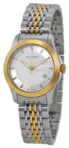 Gucci Gucci Ladies Watch Silver and Gold Classic Designer Watch