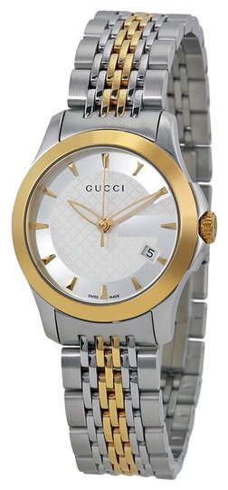 Preload https://item4.tradesy.com/images/gucci-gucci-ladies-watch-silver-and-gold-classic-designer-watch-4971793-0-0.jpg?width=440&height=440