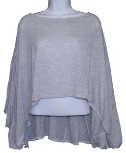 painted threads Rayon Lagenlook Top Gray