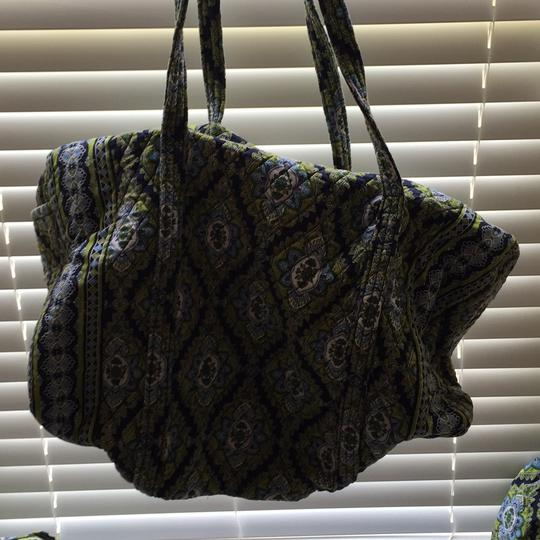 Vera Bradley Navy/green/light blue/white Travel Bag