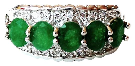 Preload https://item2.tradesy.com/images/unknown-beautiful-natural-genuine-green-emerald-white-topaz-925-sterling-silver-ring-us-sz-8-4973311-0-0.jpg?width=440&height=440