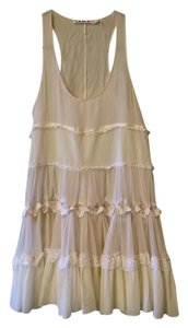 L.A.M.B. short dress Ivory/Cream Trapeze Silk Lace Trim on Tradesy