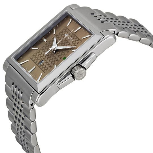 Gucci Unisex Watch Brown Dial Silver tone Stainless Steel Designer Watch