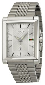 Gucci Gucci Unisex Watch Silver Dial Silver tone Stainless Steel Luxury Designer Watch