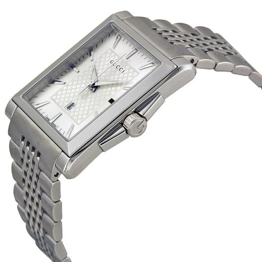Gucci Unisex Silver Dial Silver tone Stainless Steel Luxury Designer Watch