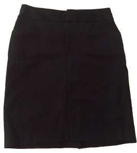 Banana Republic J Crew Pencil Pencil Zip Front Midi Unworn Cute Classic Tailored Skirt Black