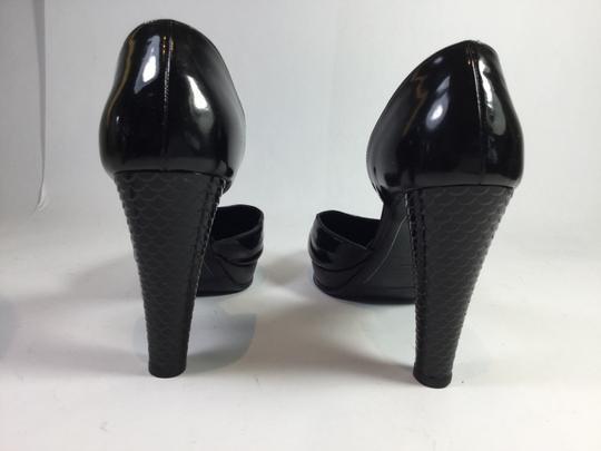 Chanel Patent Leather Black Platforms