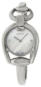 Gucci Mother of Pearl Diamonds Dial Silver Stainless Steel Designer Watch