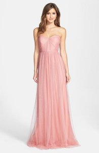 Jenny Yoo Whipped Apricot Tulle Annabelle Vintage Bridesmaid/Mob Dress Size 8 (M)