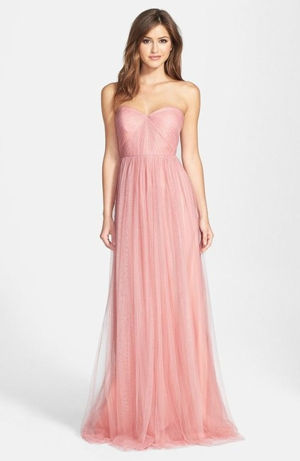 Item - Whipped Apricot Tulle Annabelle Vintage Bridesmaid/Mob Dress Size 8 (M)