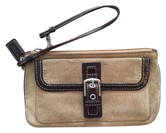 Coach Wristlet in tan/brown