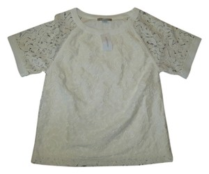 Banana Republic Lace Lace Top Cream