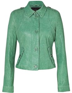 Rachel Zoe Mint Green Leather Jacket
