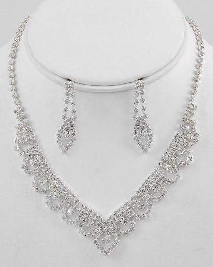 Preload https://item5.tradesy.com/images/-rhinestone-necklace-and-earring-new-jewelry-set-49764-0-0.jpg?width=440&height=440