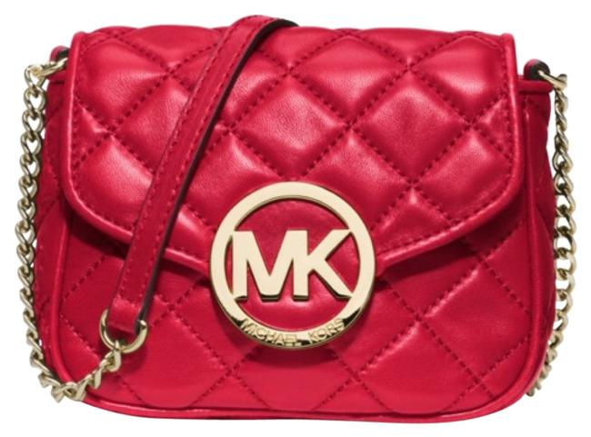 Item - Fulton 'small Fulton' Quilted Red Chili Leather Cross Body Bag