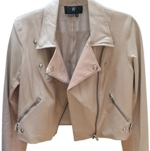 Sachin + Babi Peach Leather Jacket