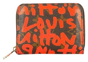 Louis Vuitton Authentic Louis Vuitton Monogram Sprouse Graffiti Orange Zippy Coin Purse