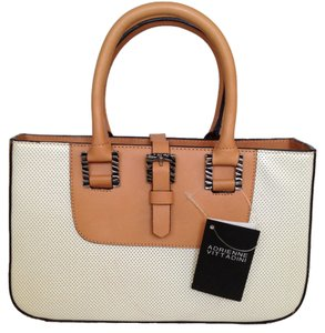 Adrienne Vittadini Classic Perforated Leather Baguette