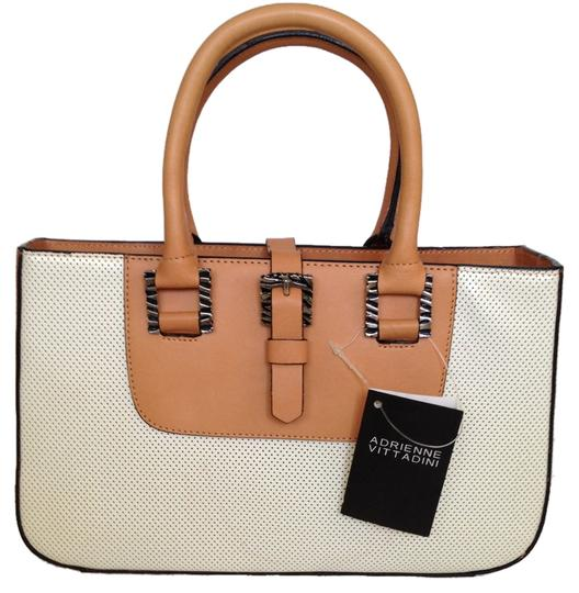Preload https://item1.tradesy.com/images/adrienne-vittadini-marco-perforated-whitetan-leather-baguette-4978150-0-0.jpg?width=440&height=440