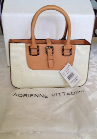 Adrienne Vittadini Classic Perforated Leather Chic Timeless Baguette Image 1