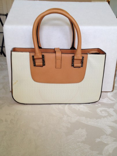 Adrienne Vittadini Classic Perforated Leather Chic Timeless Baguette Image 2