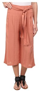 Free People Capri/Cropped Pants Peach