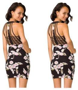 Motel Rocks Renee Japanese Cherry Bodycon Bodycon Dress