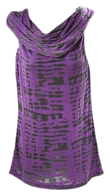 Rebecca Beeson Cowl Neck Tie Dye Top Purple