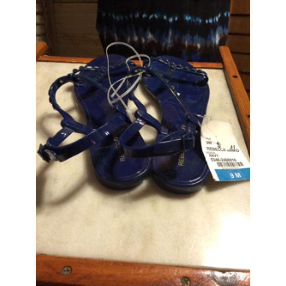 3baae28d3b1a Rebecca Minkoff RICH ELECTRIC NAVY BLUE Sandals Image 8. 123456789. 1 ∕ 9