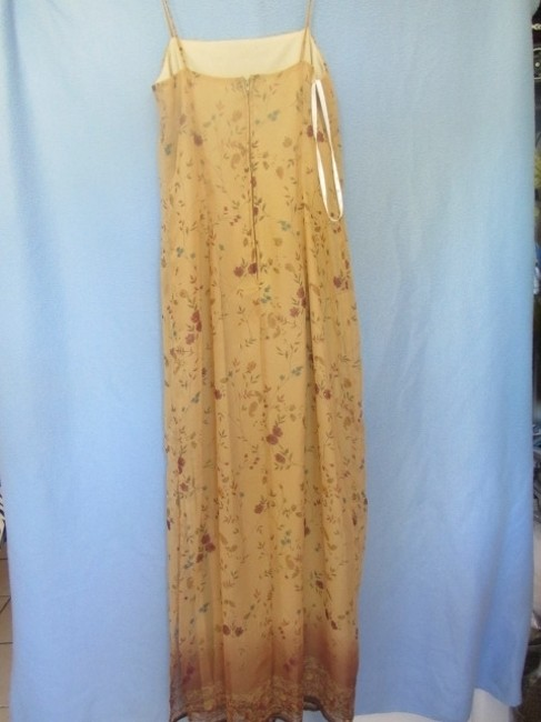 beige with floral print Maxi Dress by All That Jazz