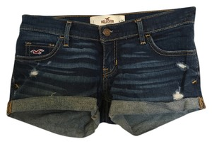 Hollister Dark Rinse Denim Shorts-Dark Rinse
