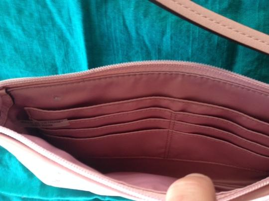 Coach Leather Wristlet in Rose Quartz Champagne Pink