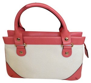 Kate Spade Leather Canvas Baguette
