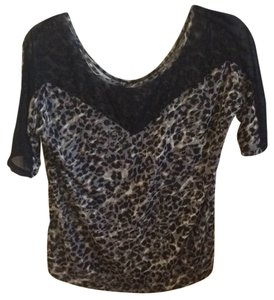 Express Top Black/animal print