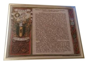 Other New - O'HARA print, Gaelic meaning, matted and ready to frame