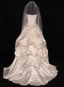 Your Dream Dress Exclusive S2805vl Diamond White Waist Length Bridal Veil