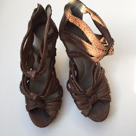 Kenneth Cole Brown Suede Wedges