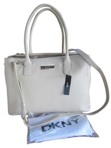 DKNY Handbag Leather Genuine Tote in Ivory