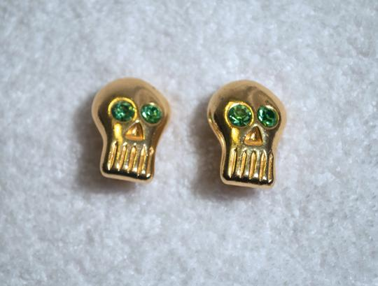 Billy Boy BILLY BOY GOLD SKULL SWAROVSKI SURREAL BILLYBOY MDVANII CLIP EARRINGS