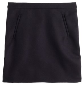 J.Crew Mini Wool Zippers Mini Skirt Black