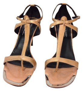Donald J. Pliner Peachy gold patent Sandals