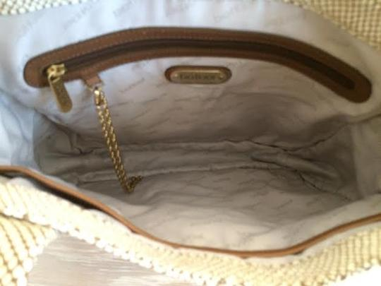 Botkier Leather Tote in Cream Snake